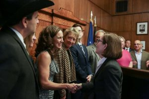 Governor Brown and COLT executive director, Kelley Beamer