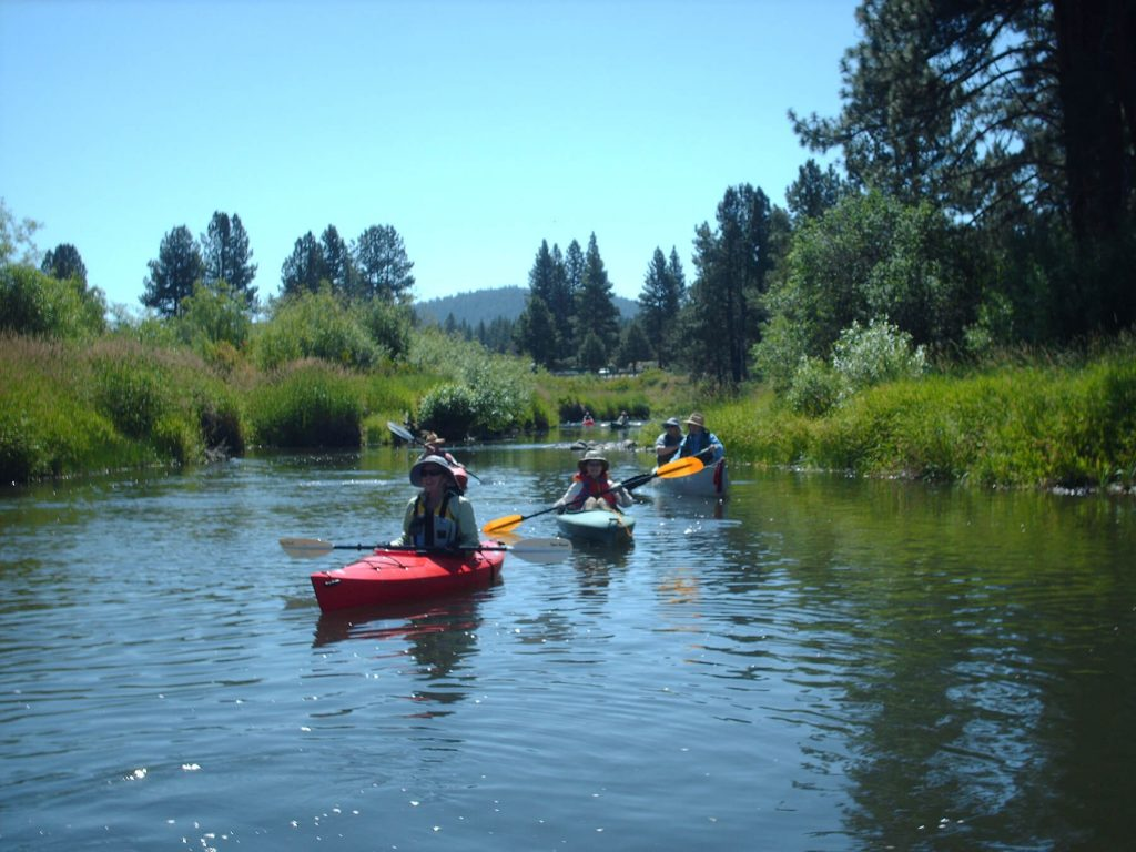 Klamath Lake Land trust. Kayaking Beatty Gap. Photographer: Andy Jansky