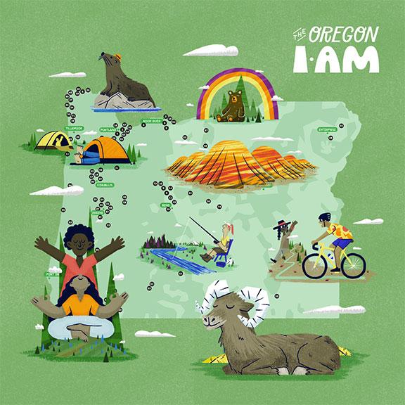 Oregon I Am Map