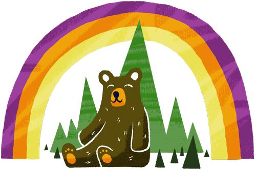 Oregon I Am Bear and Rainbow