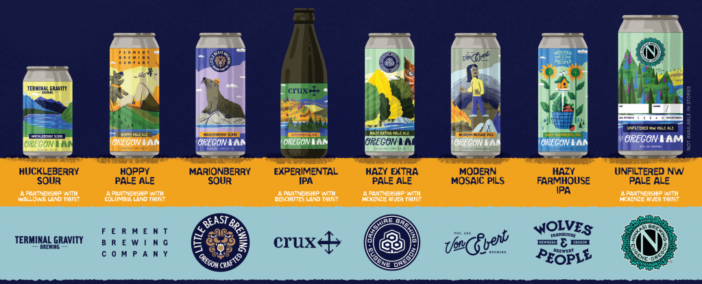All 8 beers inspired by place.