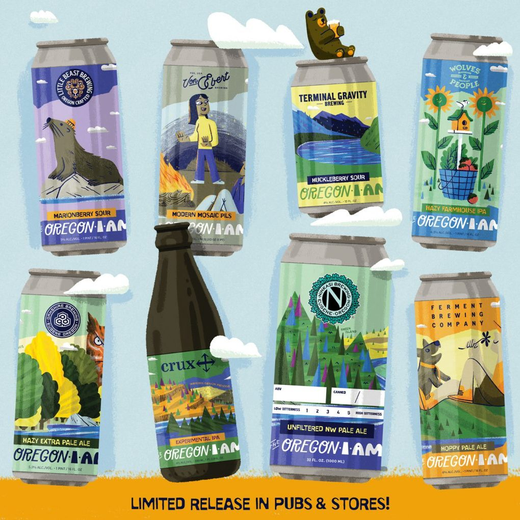 All 8 varieties of beer created by Oregon breweries and inspired by land.